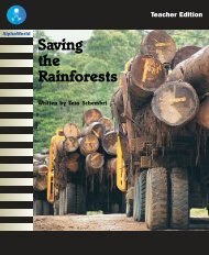 L20 TE Saving the Rainforests