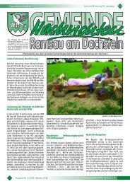 Liebe Ramsauer Bevölkerung - Ramsau am Dachstein