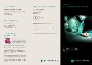 Programm und Anmeldung - Praxisklinik Herz und Gefäße