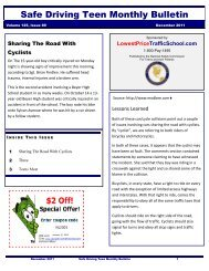Safe Driving Teen Monthly Bulletin - nationalsafetycommission.com ...