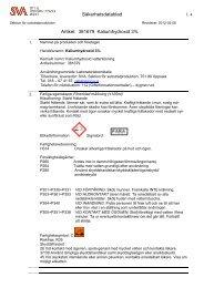 Kaliumhydroxid 3%, art.nr B381679 - SVA