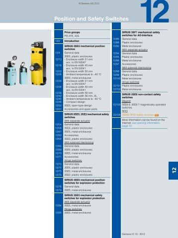 Catalog IC 10 · 2012 Chapter 12 - Siemens