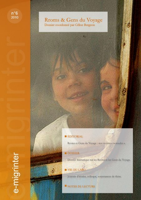 e-migrinter 2010 numéro 06 - Maison des Sciences de l'Homme et ...