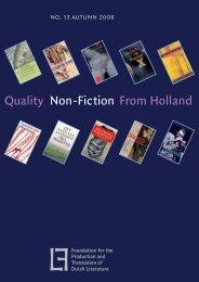 Quality Non-Fiction From Holland - Nederlands Letterenfonds