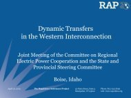 Dynamic Transfers in the Western Interconnection