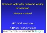Materials Innovation - An Industry Perspective - AIBN