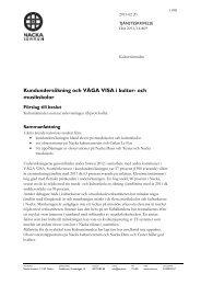 Kundundersökning och Våga Visa observationer - Nacka kommun