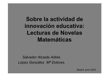 Sobre la actividad de innovación educativa - ETSI Caminos Canales ...
