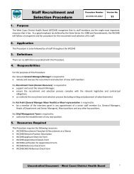 Staff Recruitment and Selection Procedure - West Coast District ...