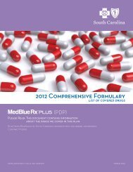 2012 Comprehensive Formulary - Blue Cross and Blue Shield of ...