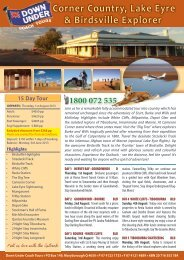 Corner Country, Lake Eyre & Birdsville Explorer - Down Under ...