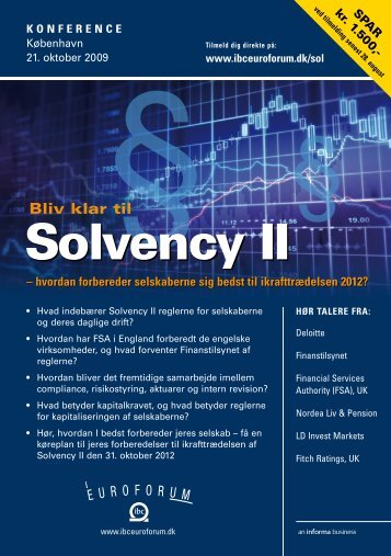Solvency II - IBC Euroforum