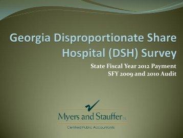 FY2012 DSH Survey Training Presentation (March 7, 2012) - GHA