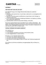 LEITBILD - Caritas Thurgau