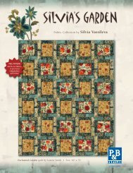 Enchanted Garden FREE Pattern from P&B Textiles
