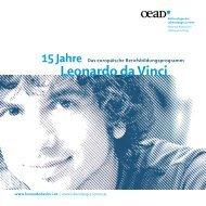15 Jahre Leonardo da Vinci - Österreichischer Austauschdienst