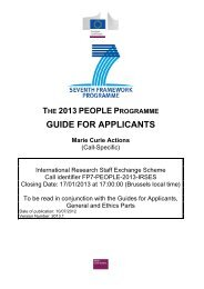 Guide for applicants - IRSES - European Commission - Europa