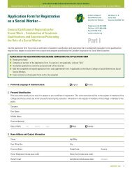 Application Form for Registration as a Social Worker