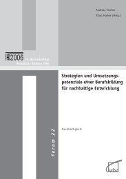 Strategien und Umsetzungspotenziale einer Berufsbildung für ...