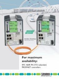 For maximum availability: - Phoenix Contact