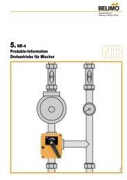 5.NR-4 Produkte-Information Drehantriebe für Mischer - Belimo
