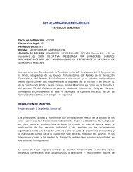 LEY DE CONCURSOS MERCANTILES - Instituto Federal de ...