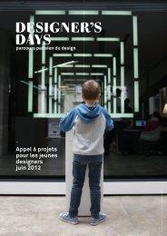 Appel à projets pour les jeunes designers juin 2012 - Designer's Days