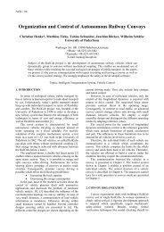 Organization and Control of Autonomous Railway Convoys