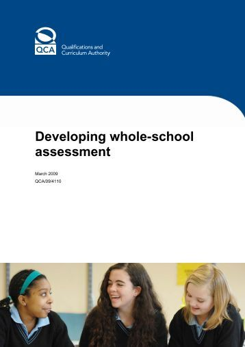 developing whole-school assessment - Digital Education Resource ...