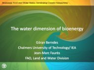 Göran Berndes International Energy Agency (IEA) - The Water ...