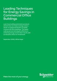 Office Building Energy Efficiency PDF 539KB - Schneider Electric