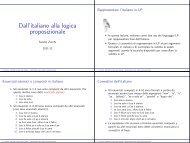 Dall'italiano alla logica proposizionale - Dipartimento di Filosofia