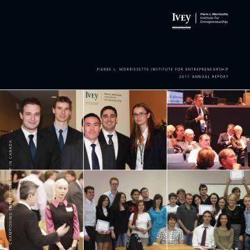 AnnuAL rePort - Ivey Institute for Entrepreneurship