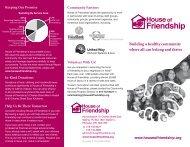 agency brochure - House of Friendship
