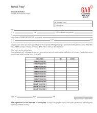 Form of Proxy* - Gab
