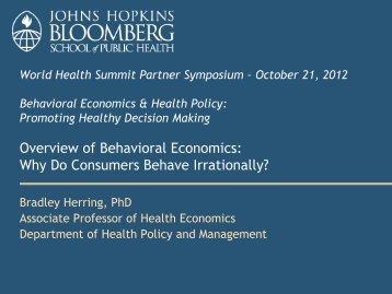 Overview of Behavioral Economics - World Health Summit