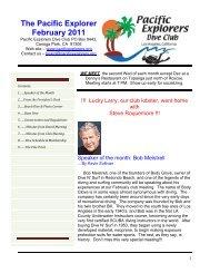 The Pacific Explorer February 2011 - Pacific Explorers Dive Club