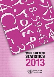 WORLD HEALTH STATISTICS 2013 - SELA