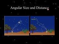 Angular Size and Distance