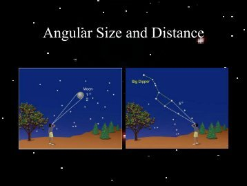 Angular Size and Distance