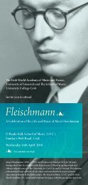 Fleischmann - Music at UCC - University College Cork