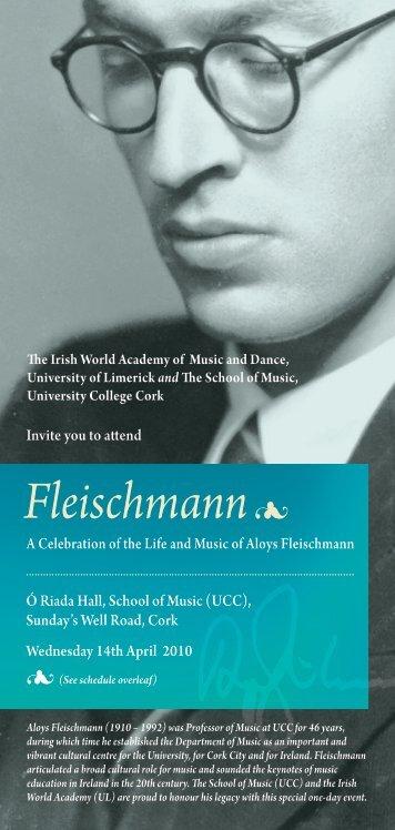 Fleischmann - Music at UCC - University College Cork