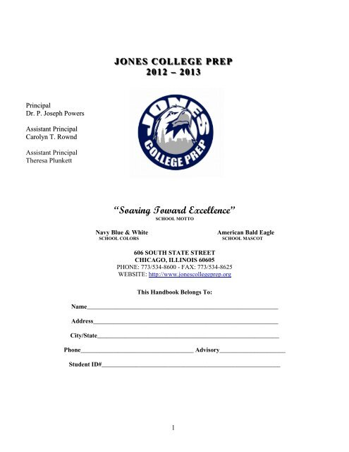 Student Handbook - Jones College Prep