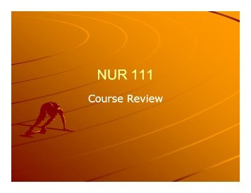 Nursing 111 Review - Monroe Community College