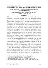 Misr J. Ag. Eng., 26(1) - Misr Journal Of Agricultural Engineering ...