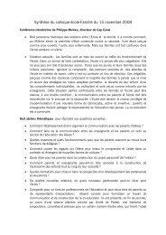 Colloque Ecole-famille : synthèse - Inspection de la Goutte d'Or (18B)
