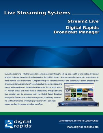 Live Streaming Systems - Video Media Solutions