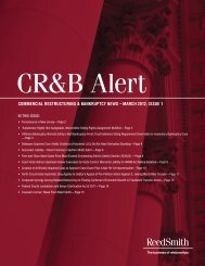 Commercial Restructuring and Bankruptcy Alert March ... - Reed Smith