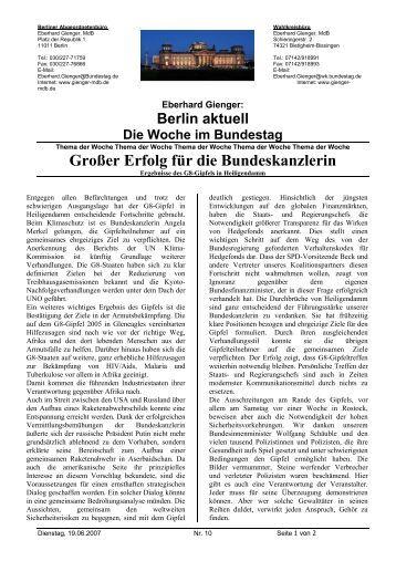 Großer Erfolg für die Bundeskanzlerin - CDU Kreisverband ...