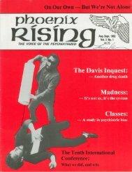 Vol. 3, No. 1 - Psychiatric Survivor Archives of Toronto